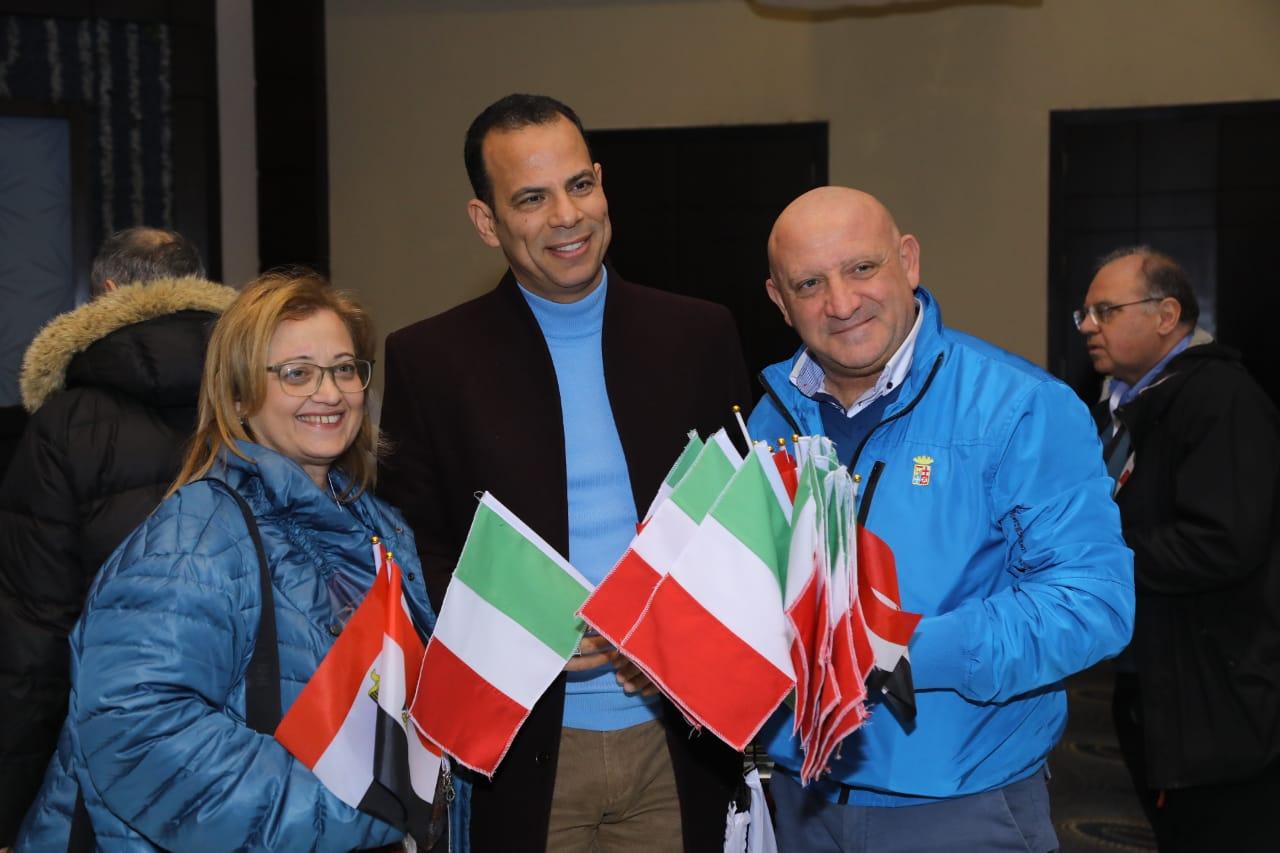 استقبال الوفد الإيطالي7