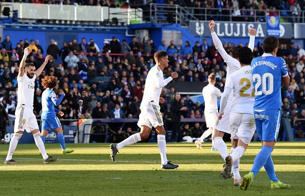 ريال مدريد يتصدر الدوري الإسباني مؤقتا بفوزه علي خيتافي بثلاثية نظيفة