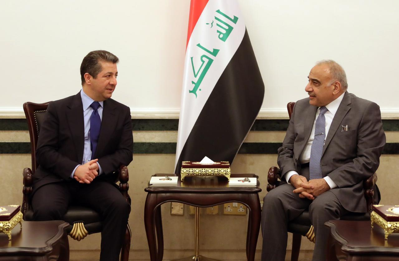 رئيس الحكومة العراقية: فرصة لحل المشاكل العالقة مع إقليم كردستان