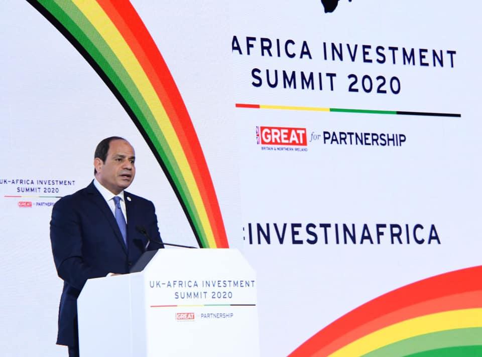 الرئيس السيسي: القمة البريطانية الإفريقية إضافة للعمل الدولي المساند لجهود النهوض بالقارة