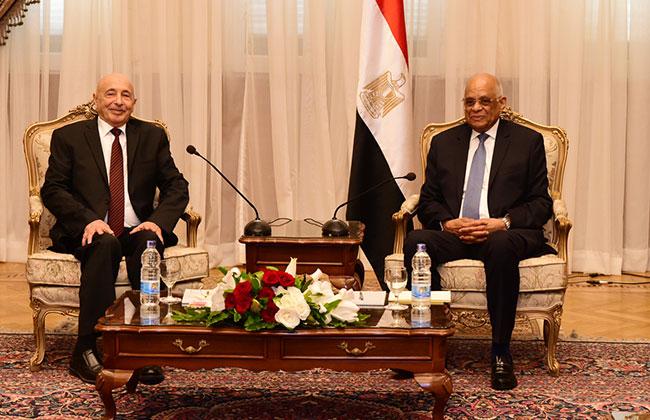 عبد العال يبحث مع رئيس النواب الليبي اخر التطورات في ليبيا