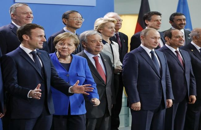 الرئيس السيسي وقادة الدول المشاركة فى مؤتمر برلين يلتقطون صورة جماعية