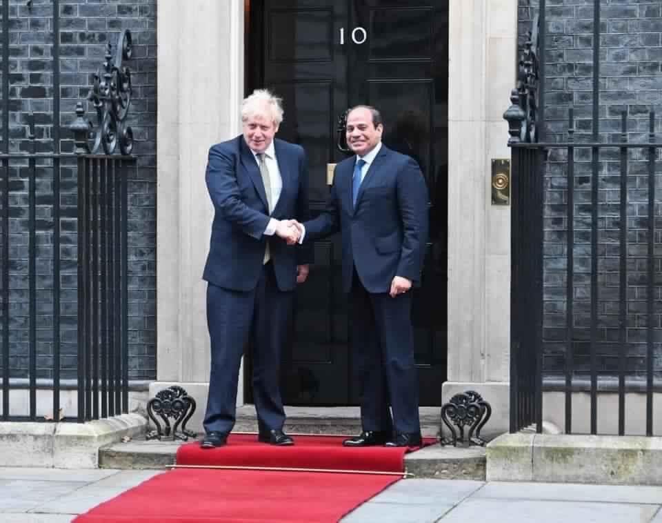الرئيس السيسي: سعدت بلقاء الأمير وليام ورئيس الوزراء البريطاني