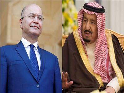 هاتفياً.. خادم الحرمين يبحث مع الرئيس العراقي مستجدات الأحداث في المنطقة