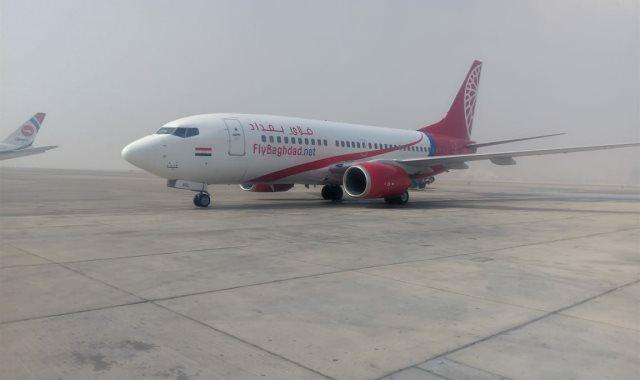 """مطار القاهرة الدولي يستقبل أول رحلة لشركة طيران """"فلاي بغداد"""""""