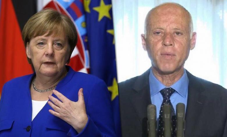 الرئيس التونسي يبحث مع المستشارة الألمانية الوضع في ليبيا