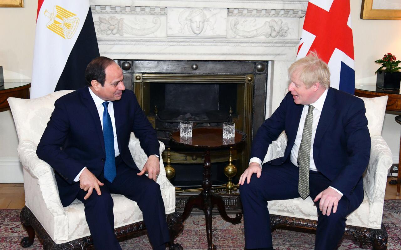 صور| تفاصيل المباحثات الثنائية بين الرئيس السيسي ورئيس الوزراء البريطاني