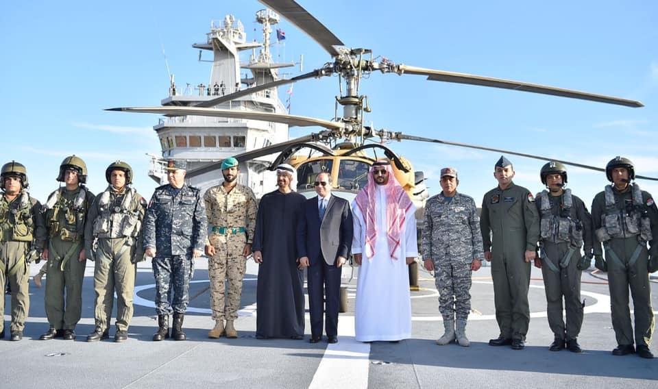 افتتاح الرئيس السيسي لقاعدة برنيس العسكرية يتصدر اهتمامات الصحف المصرية