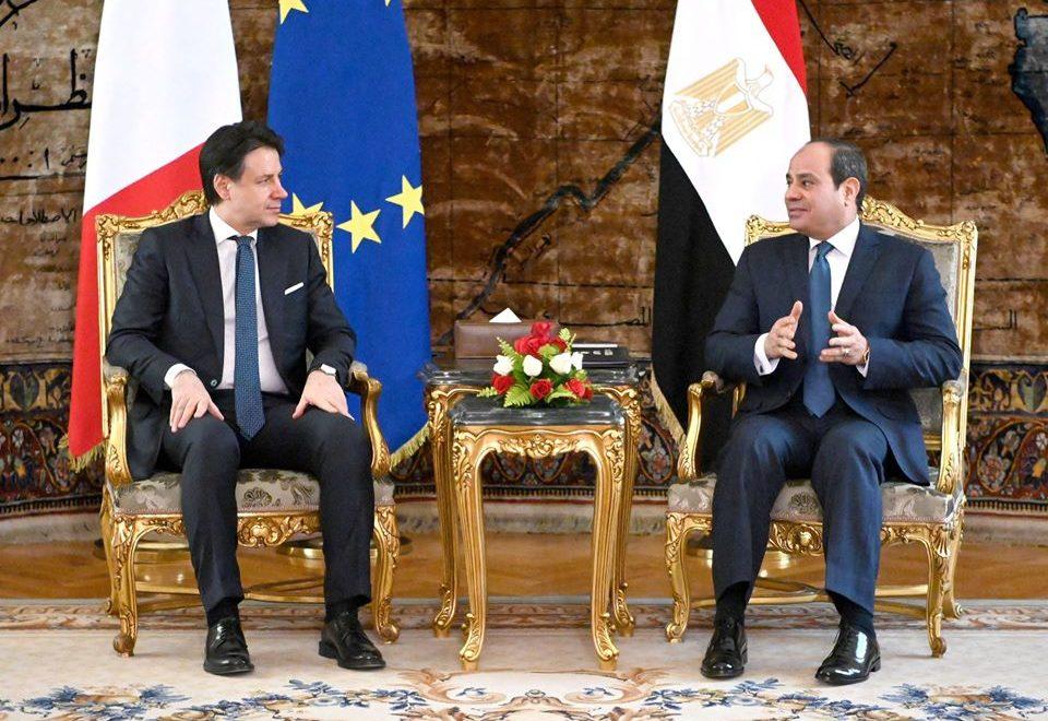 مباحثات السيسي ورئيس وزراء إيطاليا والمناورة قادر 2020 يتصدران عناوين الصحف المصرية