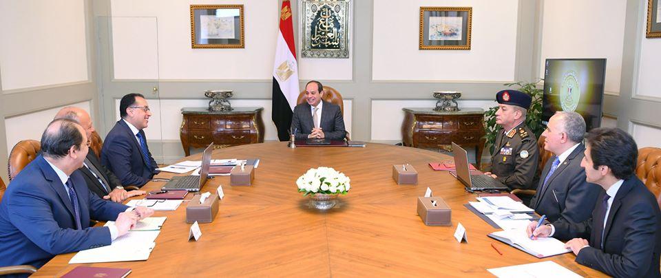 الرئيس السيسي يوجه بمواصلة العمل للحفاظ على حقوق مصر المائية