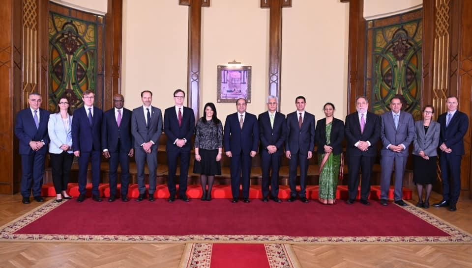 الرئيس السيسي يستعرض تطورات مفاوضات سد النهضة مع وفد البنك الدولي