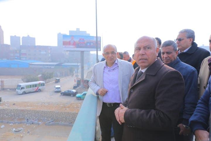 صور | وزير النقل يتابع أعمال التطوير الشاملة للطريق الدائري بتكلفة 5.3 مليار جنيه