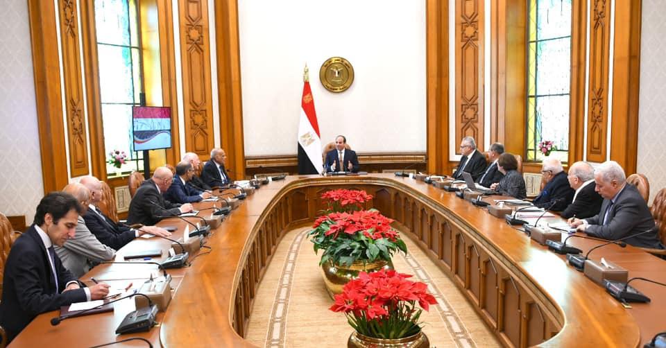 الرئيس السيسي يجتمع بالمجلس الاستشاري لكبار علماء وخبراء مصر