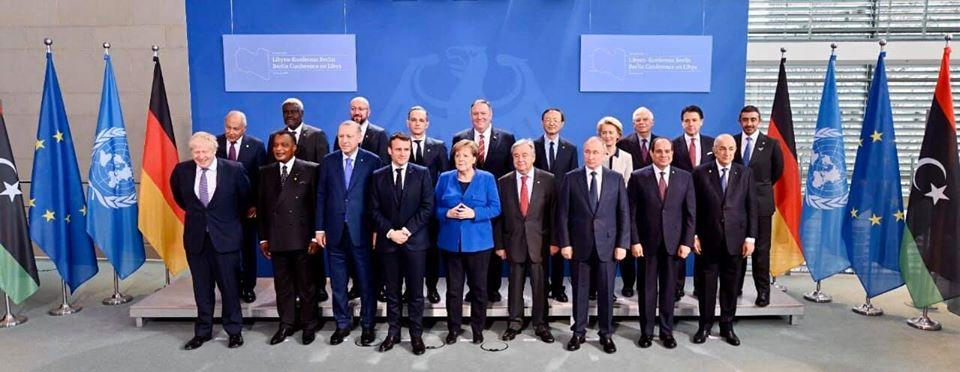 حضور الرئيس السيسي لقمة برلين ومباحثاته مع بومبيو تتصدر عناوين الصحف