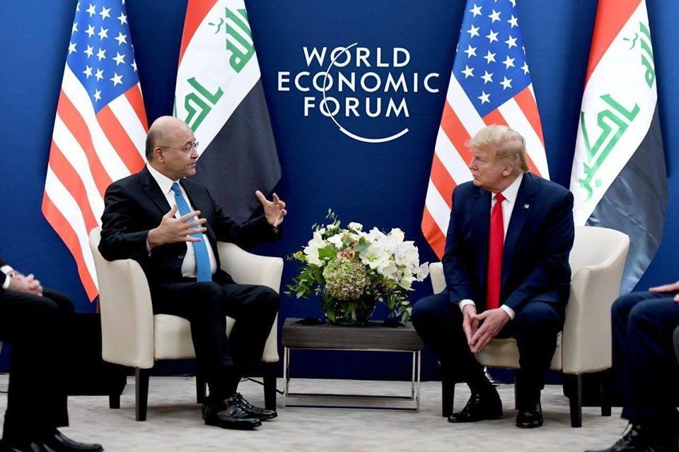 صور   الرئيس العراقييلتقي نظيرة الأمريكي لبحث القضايا والأحداث الدولية في المنطقة