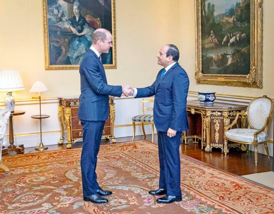 السيسي يؤكد للأمير ويليام تطلع مصر لتعزيز التعاون الاقتصادي والتجاري مع بريطانيا