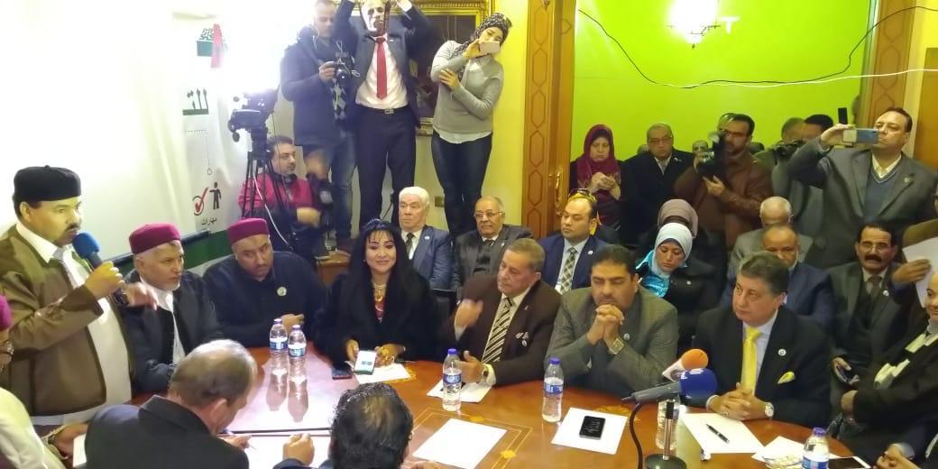 صور | حزب الغد وقيادات القبائل الليبية تستنكر قرار البرلمان التركى