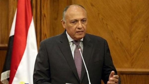 سامح شكرى عن مفاوضات سد النهضة: مصر حريصة على حماية مصالحها المائية