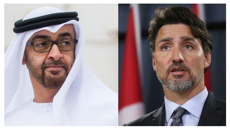 رئيس وزراء كندا وولي عهد أبوظبي يناقشان التطورات في المنطقة وتجنب التصعيد