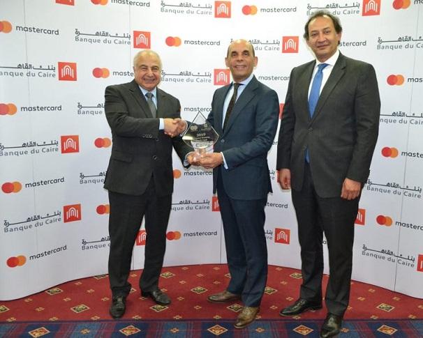 بنك القاهرة يحصد جائزة ماستركارد لأسرع نمو للبطاقات الائتمانية خلال 2019