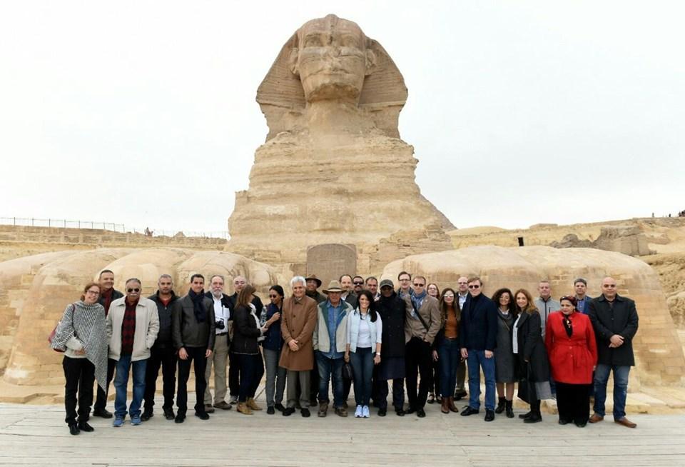 """بمشاركة """"المشاط"""".. وفد البنك الدولي يقوم بجولة في منطقة الأهرامات والمتحف المصري الكبير"""