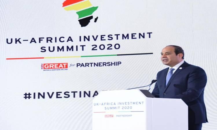 متحدث الرئاسة ينشر صورا لمشاركة السيسى فى القمة الإفريقية البريطانية بلندن