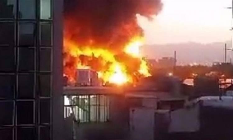 اندلاع حريق بجوار مسجد الحصرى فى أكتوبر