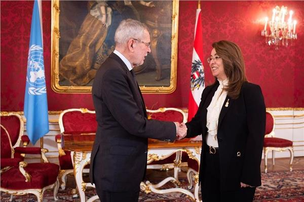 رئيس جمهورية النمسا يستقبل غادة والي مع بدء مهام عملها بالأمم المتحدة