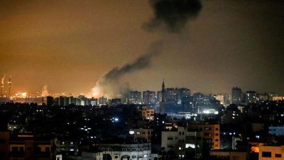 الجيش الإسرائيلي يقصف مواقع فلسطينية تابعة لحركة حماس شمالي قطاع غزة