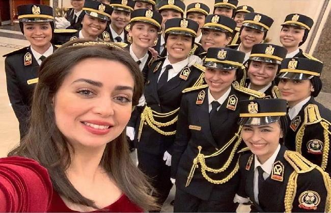"""صور  الفنانة هبة مجدي ضابطات شرطة مصر:""""البنات اللي تفرح"""""""