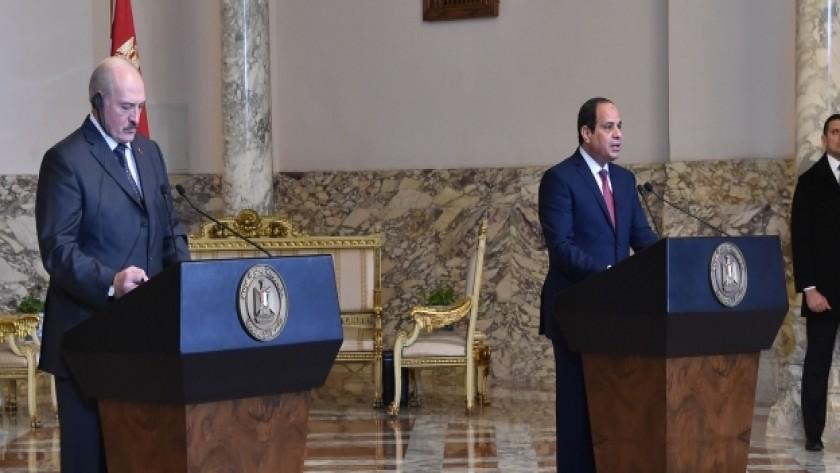 مؤتمر صحفي لاستعراض نتائج مباحثات القمة المصرية – البيلاروسية