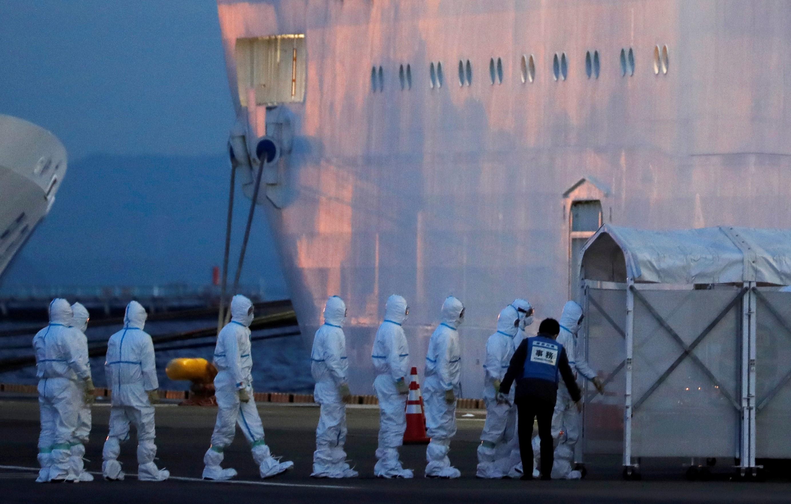 ارتفاع عدد المصابين بفيروس كورونا على متن سفينة سياحية باليابان إلى 218 حالة