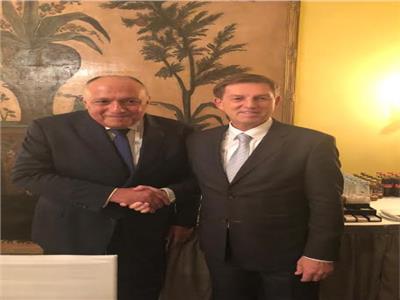 سامح شكري يعقد لقاءً مع وزير خارجية سلوفينيا على هامش مؤتمر ميونخ للأمن