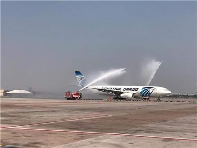 مطار بانكوك يحتفل باستقبال أول رحلة بضائع لشركة مصر للطيران