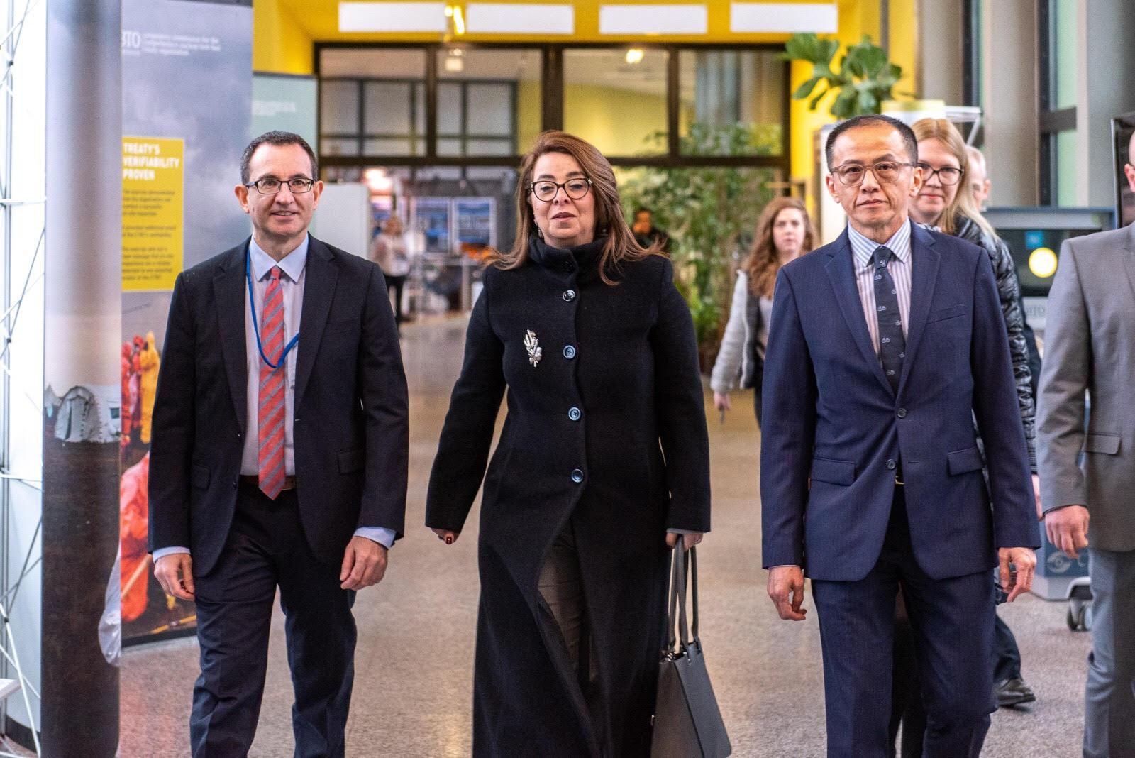 صور | غادة والى تتسلم مهام منصبها الدولى بالأمم المتحدة فى فيينا