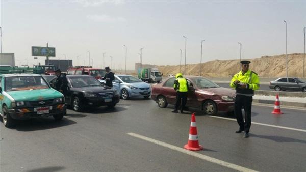 """""""المرور"""" تواصل مراقبة السرعات العالية بمصر الجديدة"""