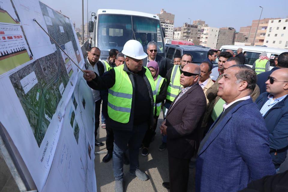صور | وزير النقل يتفقد أعمال التطوير والصيانة الشاملة للطريق الدائري