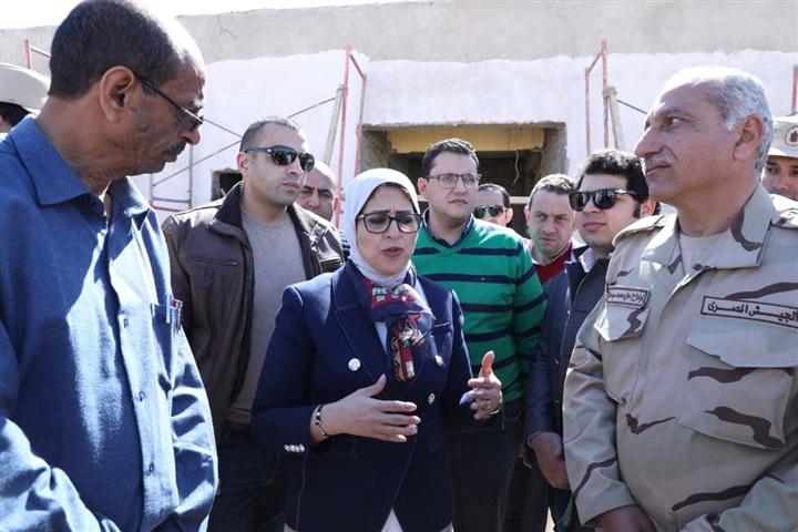 صور | وزيرة الصحة: تسجيل 52 ألف مواطن بمنظومة التأمين الصحي في جنوب سيناء