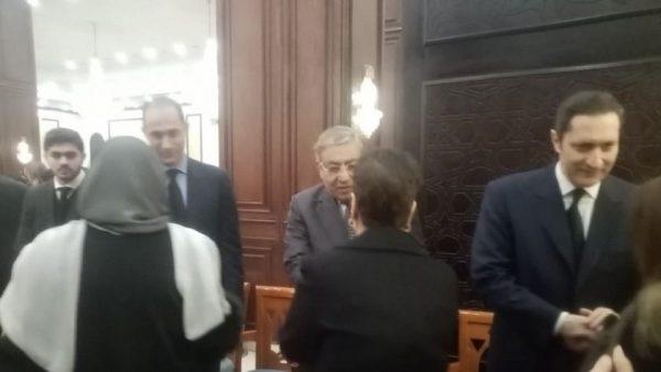 عزاء الرئيس الراحل حسني مبارك في مسجد المشير