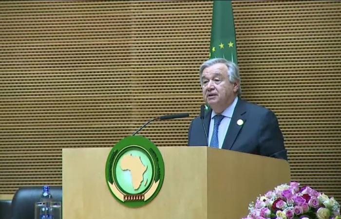 جوتيريش: الأمم المتحدة تعمل على تعزيز الشراكة مع الاتحاد الأفريقي