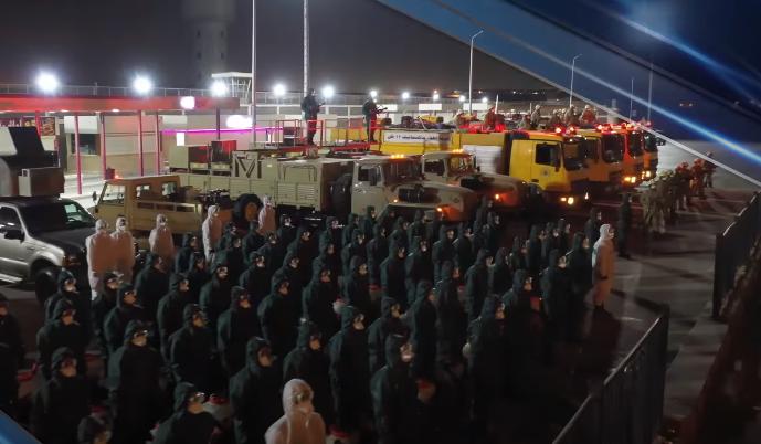 فيديو وصور | القوات المسلحة تواصل عمليات التطهير والتعقيم للمناطق الحيوية والمنشآت