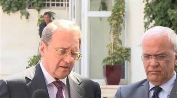 عريقات وبوجدانوف يبحثان التسوية الفلسطينية الإسرائيلية ومكافحة كورونا