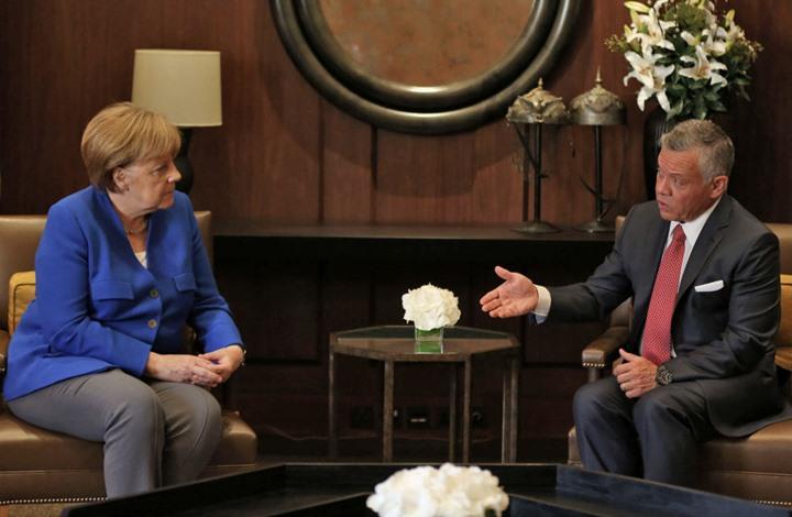 العاهل الأردني والمستشارة الألمانية يؤكدان أهمية التعاون لمكافحة كورونا