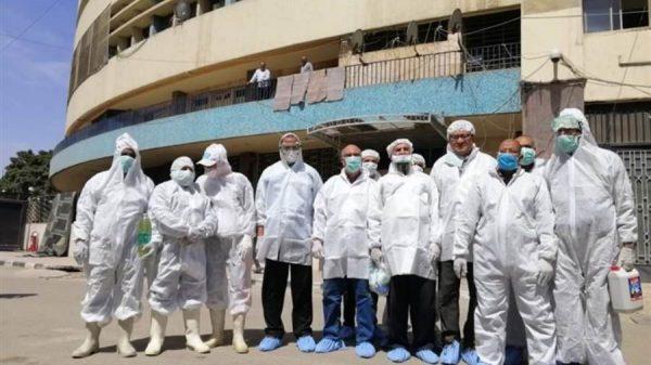 الزراعة تطهر مبنى ماسبيرو للوقاية من فيروس كورونا