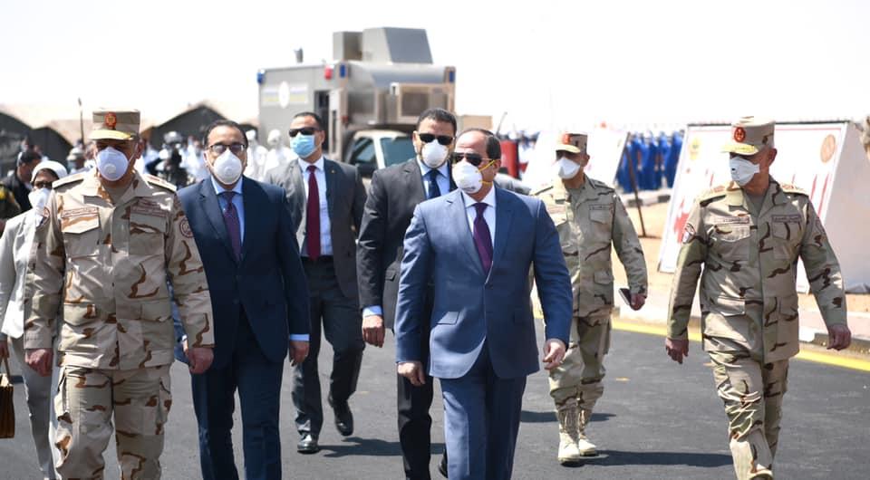 الرئيس السيسي يفتتح عدداً من المشروعات القومية بالسويس