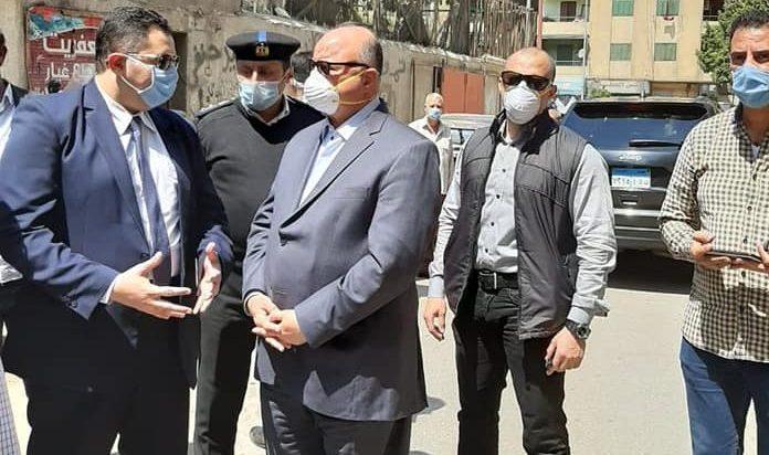 محافظ القاهرة يشهد حملات إزالة المباني المخالفة بحدائق القبة