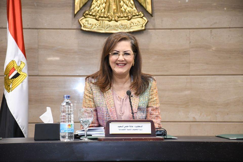 صور | وزيرة التخطيط تعقد مؤتمرًا صحفيًا لمتابعة تداعيات فيروس كورونا المستجد