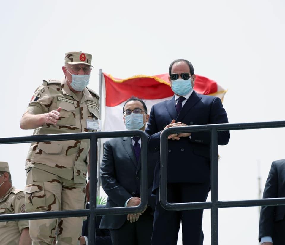 افتتاح الرئيس السيسي لعدد من المشروعات القومية بسيناء يتصدر اهتمامات الصحف