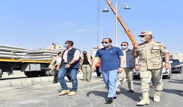صور| الرئيس السيسى يتفقد الأعمال الإنشائية لتطوير عدد من الطرق والكباري