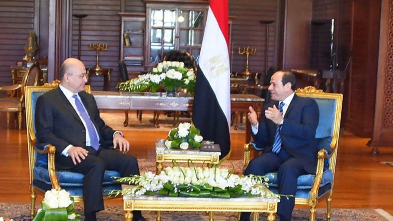 الرئيس السيسي ونظيره العراقي يتوافقان على تعزيز جهود اللجنة العليا المشتركة